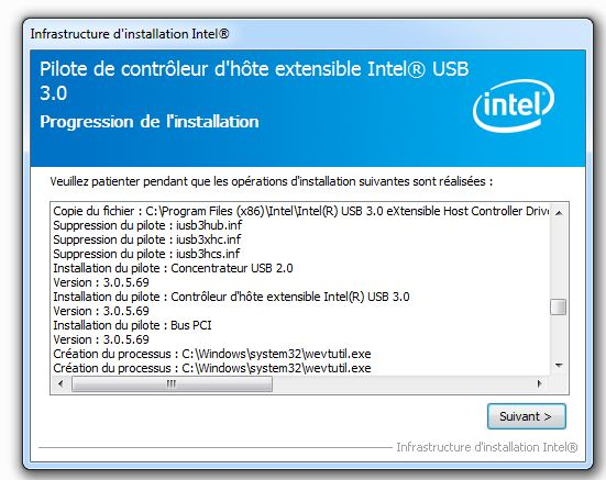 concentrateur racine intel(r) usb 3.0